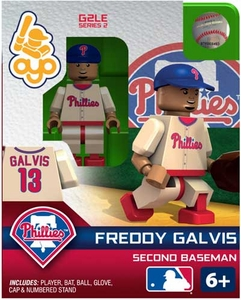 OYO Baseball MLB Generation 2 Building Brick Minifigure Freddy Galvis [Philadelphia Phillies]