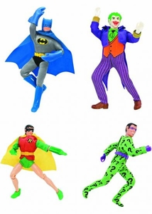 Batman Retro 8 Inch Series 1 Set of 4 Action Figures [Batman, Robin, Joker & Riddler]