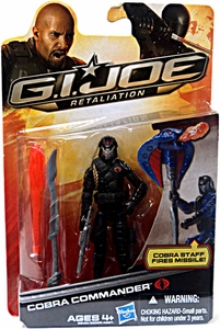 GI Joe Retaliation Movie 3.75 Inch Action Figure Cobra Commander {Black Uniform} [Cobra Staff Fires Missiles!]