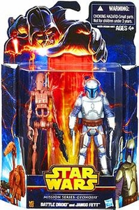 Star Wars Mission Series Action Figure 2-Pack Geonosis [Battle Droid & Jango Fett] New!