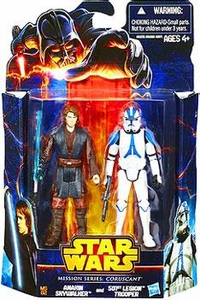 Star Wars Mission Series Action Figure 2-Pack Coruscant [Anakin Skywalker & 501st Legion Trooper] New!