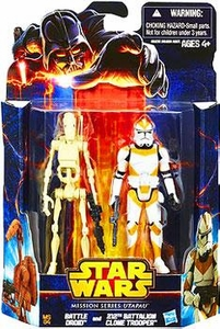 Star Wars Mission Series Action Figure 2-Pack Utapau[Battle Droid & 212th Battalion Clone Trooper] New!
