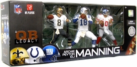 McFarlane Toys NFL Sports Picks Exclusive Action Figure 3-Pack Archie (New Orleans Saints), Eli (New York Giants) & Peyton Manning (Indianapolis Colts) [Quarterback Legacy]