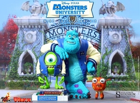 Monsters University Hot Toys Collectibel Vinyl Figure Set Mike, Sulley & Archie  Pre-Order ships March