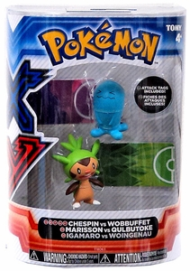 Pokemon XY TOMY Basic Figure 2-Pack Chespin & Wobbuffet