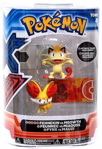 Pokemon XY TOMY Basic Figure 2-Pack Fennekin & Meowth