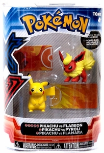 Pokemon XY TOMY Basic Figure 2-Pack Pikachu & Flareon