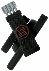 GI Joe 3 3/4 Inch LOOSE Action Figure Accessory Black Quiver & Sheaths with Red Markings