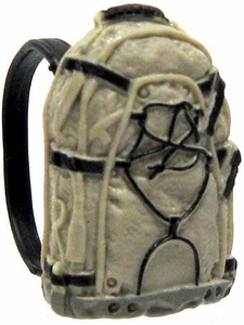 GI Joe 3 3/4 Inch LOOSE Action Figure Accessory Black, Dark Tan & Gray Small Backpack