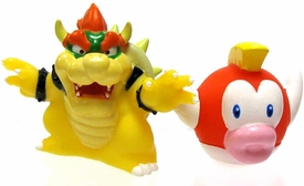 Super Mario Brothers Subarudo 2 Inch Micro Figures Bowser & Cheep Cheep