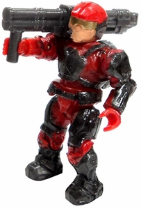 Halo Wars Mega Bloks LOOSE Mini Figure Red UNSC Marine with Missile Launcher