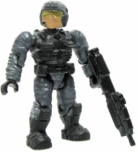 Halo Wars Mega Bloks LOOSE Mini Figure UNSC Blue Steel Marine with Assault Rifle