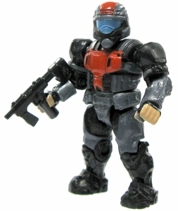 Halo Wars Mega Bloks LOOSE Mini Figure UNSC Blue Steel ODST with Backpack & SMG