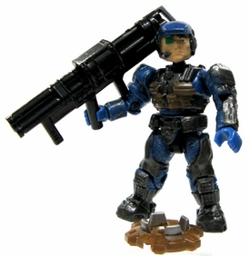 Halo Wars Mega Bloks LOOSE Mini Figure UNSC Cobalt Marine with Bazooka & Land Mine