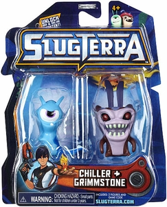 Slugterra Mini Figure 2-Pack Chiller & Grimmstone [Includes Code for Exclusive Game Items]