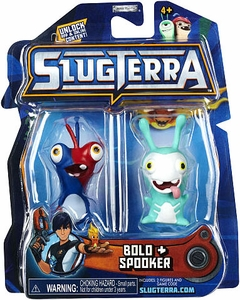 Slugterra Mini Figure 2-Pack Bolo & Spooker [Includes Code for Exclusive Game Items] Hot!