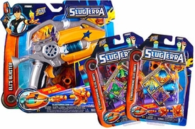 Slugterra Combo Deal Basic Blaster & Evo Dart Set Eli's Blaster + 2 RANDOM Transforming Slug Darts 3-Packs [Includes Code for Exclusive Game Items]