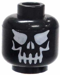 LEGO LOOSE Head Black Evil Skull