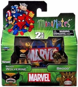 Marvel MiniMates Series 47 Mini Figure 2-Packs Brood Wolverine Variant & Brood