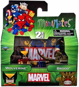 Marvel MiniMates Series 47 Mini Figure 2-Packs Wolverine & Brood