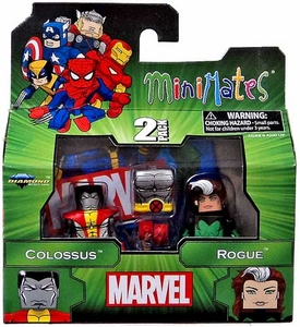 Marvel MiniMates Series 47 Mini Figure 2-Packs Colossus & Rogue