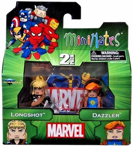 Marvel MiniMates Series 47 Mini Figure 2-Packs Longshot & Dazzler