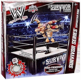 Mattel WWE Wrestling Exclusive Survivor Series Superstar Ring [Pro-Tension Ropes!]