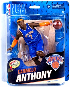 McFarlane Toys NBA Sports Picks Series 23 Action Figure Carmelo Anthony (New York Knicks) Blue Uniform