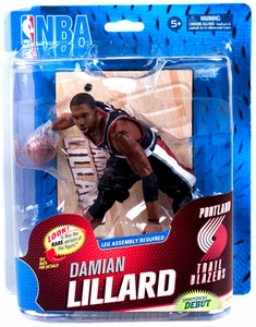 McFarlane Toys NBA Sports Picks Series 23 Action Figure Damian Lillard (Portland Trail Blazers) Black Uniform