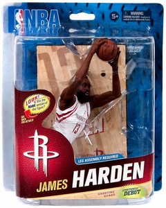 McFarlane Toys NBA Sports Picks Series 23 Action Figure James Harden (Houston Rockets) White Uniform Collector Level Only 1,500 Made!