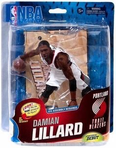 McFarlane Toys NBA Sports Picks Series 23 Action Figure Damian Lillard (Portland Trail Blazers) White Rip City Uniform Collector Level Only 500 Made!