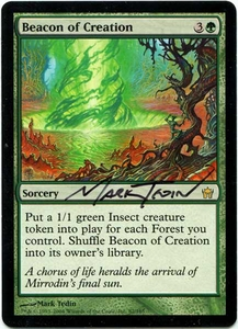 Magic the Gathering Other Promo Card Mark Tedin Artist Proof Beacon of Creation w/ Sketch