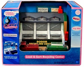 Thomas the Tank Train & Friends Wooden Railway Load & Sort Recycling Center Damaged Package, Mint Contents!