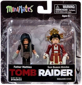 Tomb Raider Minimates Mini Figure 2-Pack Father Mathias & Sun Queen Himiko