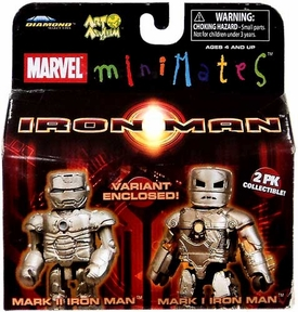 Marvel MiniMates Series 21 Mini Figure 2-Pack Mark II Iron Man & Mark 1 Iron Man [Variant]