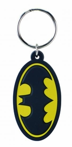 DC Laser Cut PVC Keyring Batman Symbol Pre-Order ships March