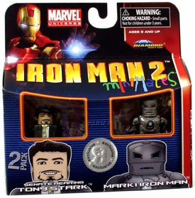 Iron Man 2 Movie Exclusive Minimates Mini Figure 2-Pack Senate Hearing Tony Stark & Mark I Iron Man