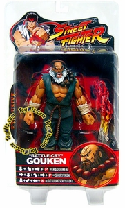 Sota Toys Street Fighter Exclusive Action Figure Battle-Cry Gouken Damaged Package, Mint Contents!