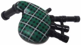 LEGO  LOOSE Accessory Green Plaid Bagpipes
