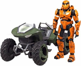 Halo McFarlane Toys Loose Deluxe Vehicle Box Set Mongoose with Orange Spartan Soldier Mark V