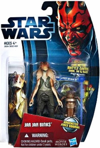 Star Wars 2012 Saga Movie Heroes Action Figure #13 Jar Jar Binks