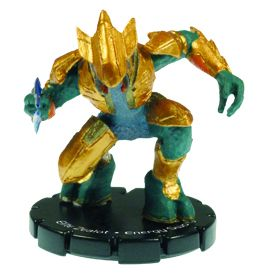 Halo 3 Wizkids CMG Miniature Game ActionClix Single Figure 035 Uncommon Elite Zealot Energy Sword [Gold]