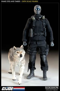 GI Joe Sideshow Collectibles 12 Inch Deluxe Action Figure Snake Eyes [With Timber]