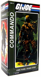 GI Joe Sideshow Collectibles 12 Inch Deluxe Action Figure Commander Snake Eyes