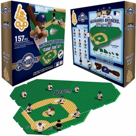 OYO Baseball MLB Generation 1 Team Field Game Time Set Milwaukee Brewers