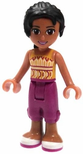 LEGO Friends LOOSE Mini Figure Joanna Magenta Cropped Trousers, Orange Top