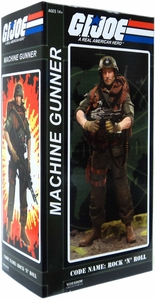 GI Joe Sideshow Collectibles 12 Inch Deluxe Action Figure Heavy Machine Gunner Rock N' Roll