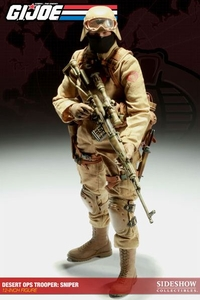 GI Joe Sideshow Collectibles 12 Inch Deluxe Action Figure Cobra Desert Ops Trooper: Sniper