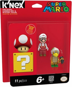 Super Mario K'NEX Mini Figure 3-Pack Hammer Bros, Fire Mario & Mystery Figure