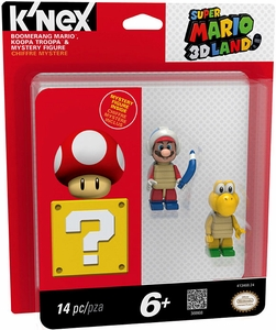 Super Mario K'NEX Mini Figure 3-Pack Koopa Troopa, Boomerang Brother & Mystery Figure